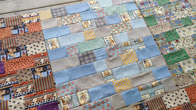 Charity baby quilts using Debbie Mumm fabric