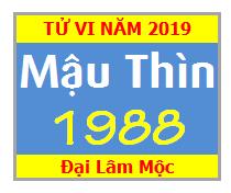 Tử Vi Tuổi Mậu Thìn 1988 Năm 2019 - Nam Mạng - Nữ mạng