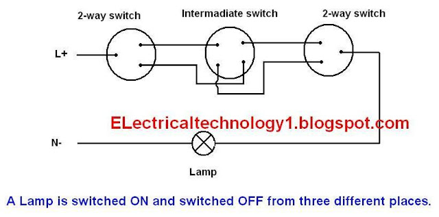 Lamp From More Different Places By Adding More Intermediate Switches