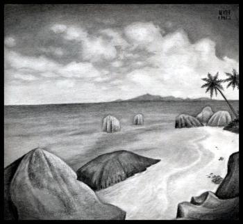 Cara Menggambar Cara Mudah Sketsa Pantai Menggambar Pantai Yang Realistis