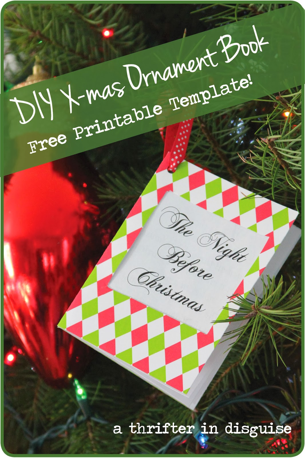 A Thrifter In Disguise Free Diy Ornament Printable Amp Tutorial