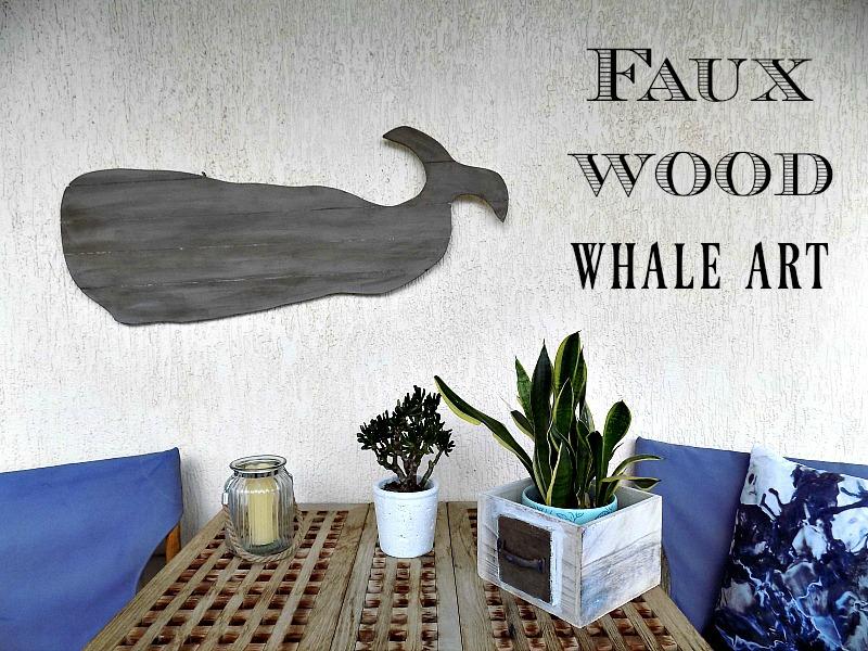 Φτιάχνω μια φάλαινα από χαρτί που να μοιάζει ξύλινη