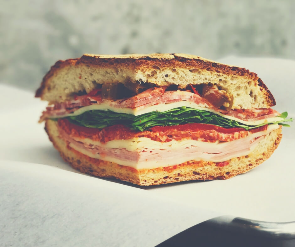 Ways To Make Sure Your Kids Eat Their Packed Lunch | A sliced ham sandwich, that has lots of slices on it - perhaps LP would enjoy it?