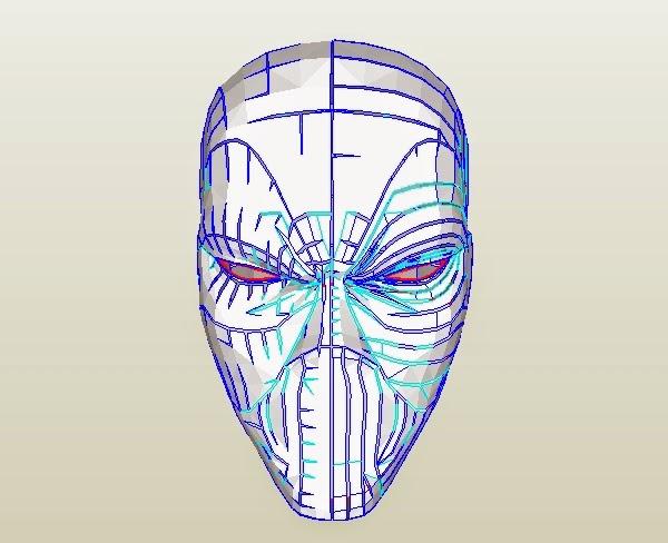 Dali-Lomo: Deadpool Semi-Rigid Costume Mask DIY (PDF template)