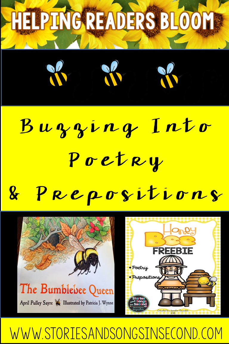 Honeybee mentor texts are the perfect way to interest and engage primary grade students poetry and using prepositional phrases in their writing!