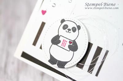 Stampinup; Party-Pandas; Sale a bration 2018; Pandakarte, Match the Sketch; Stempel-biene; Basteln Recklinghausen; Hochzeitspapeterie
