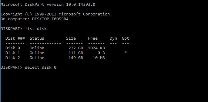 Convert harddisk ke GPT