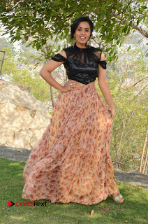 Actress Chetana Uttej Stills in Floral Long Skirt at Pichiga Nachav Movie Press Meet  0109.JPG