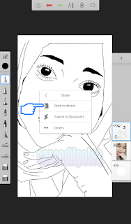 Edit foto line art di android