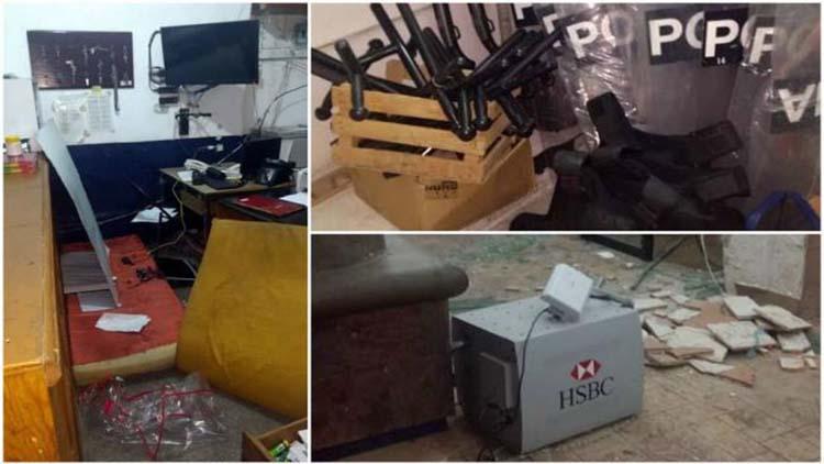 Comando armado asalta comandancia de Policía y roban arsenal de armas y 2 cajeros automáticos en el Edomex