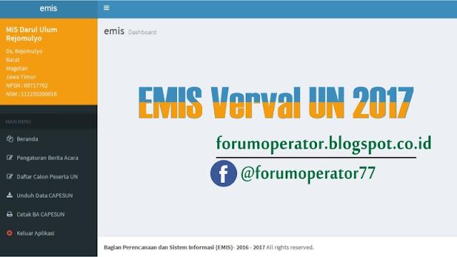 EMIS Verval UN 2017 Dengan Berbagai Permasalahan dan Solusi