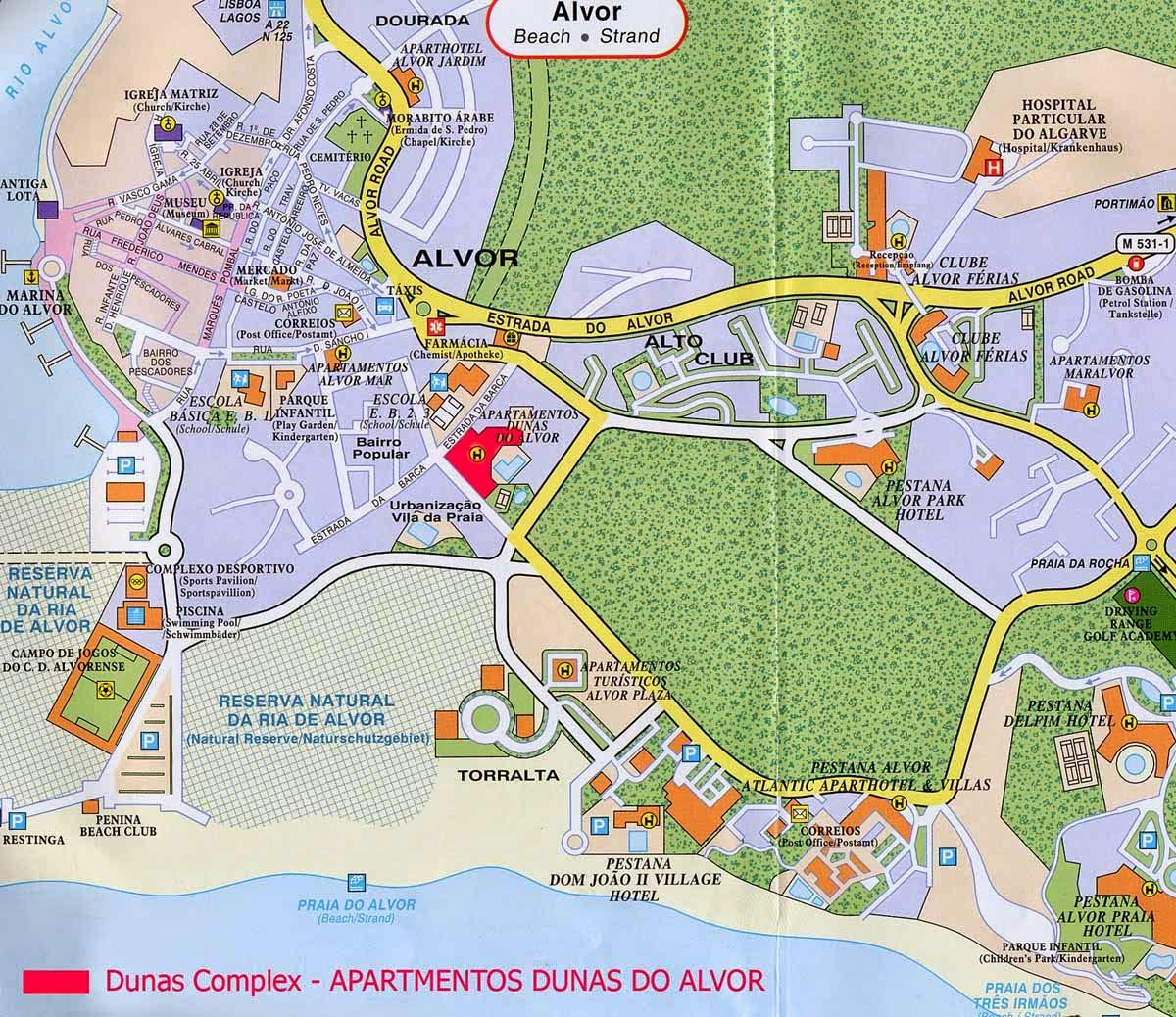 alvor mapa Alvor Online: Mapa de Alvor alvor mapa