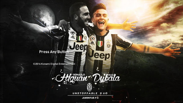 PES 2017 Higuain and Dybala Start Screen