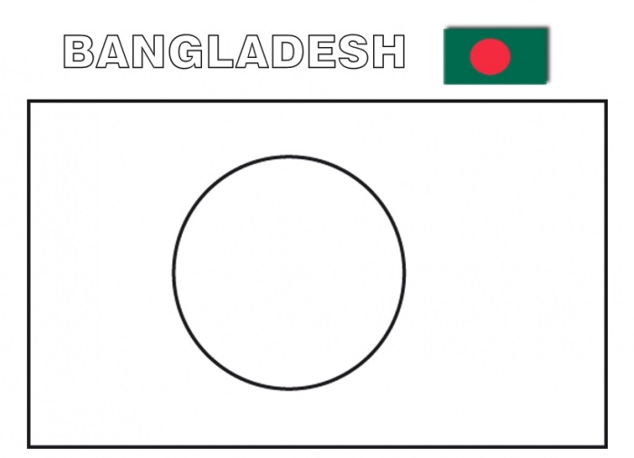 Geography Blog: Printable flag of bangladesh coloring page
