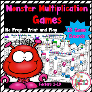 monster multiplication board games