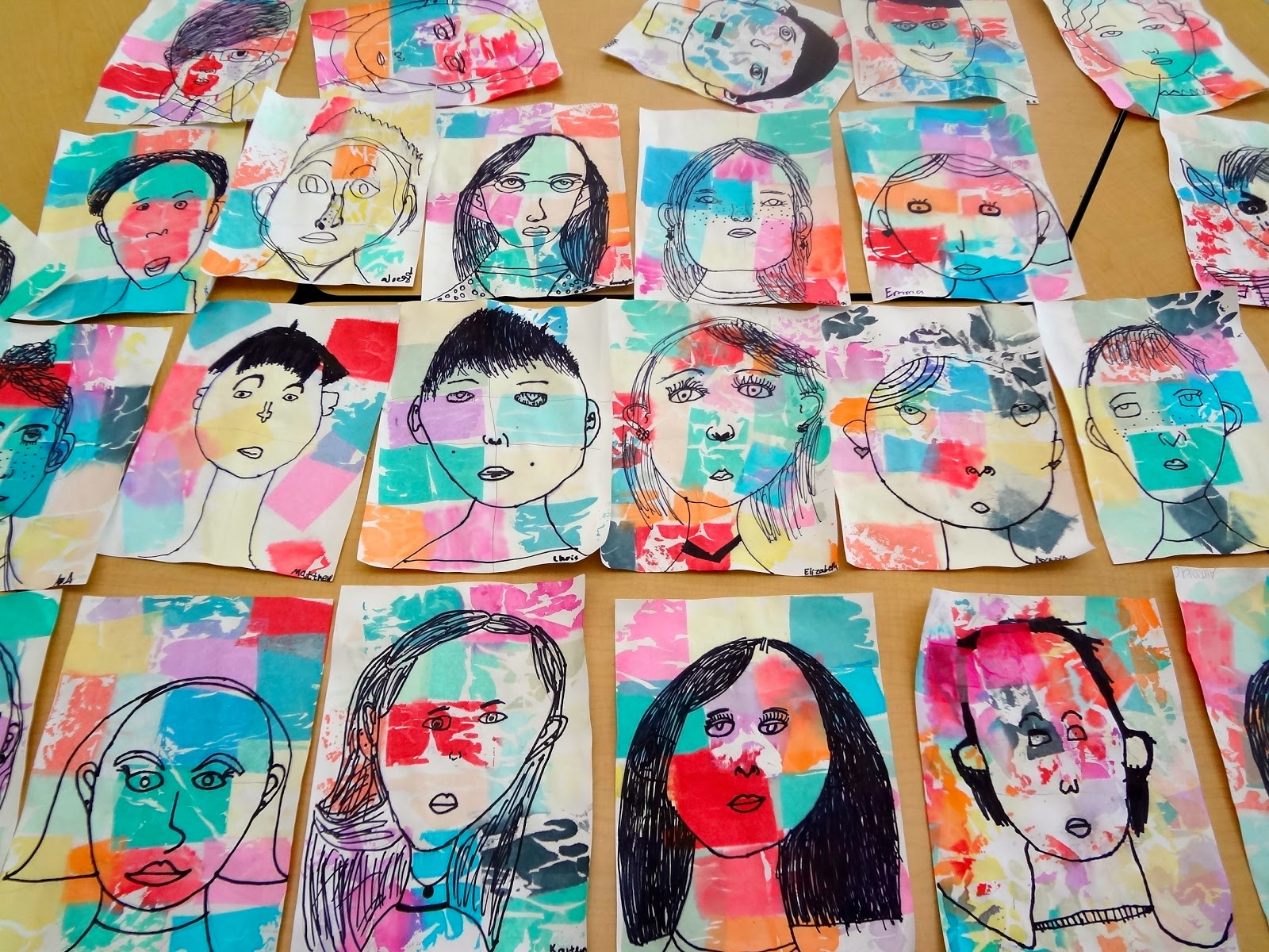 The Talking Walls Paul Klee Inspired Self Portrait Lesson