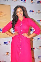 Sree Mukhi in Pink Kurti looks beautiful at Meet and Greet Session at Max Store (61).JPG