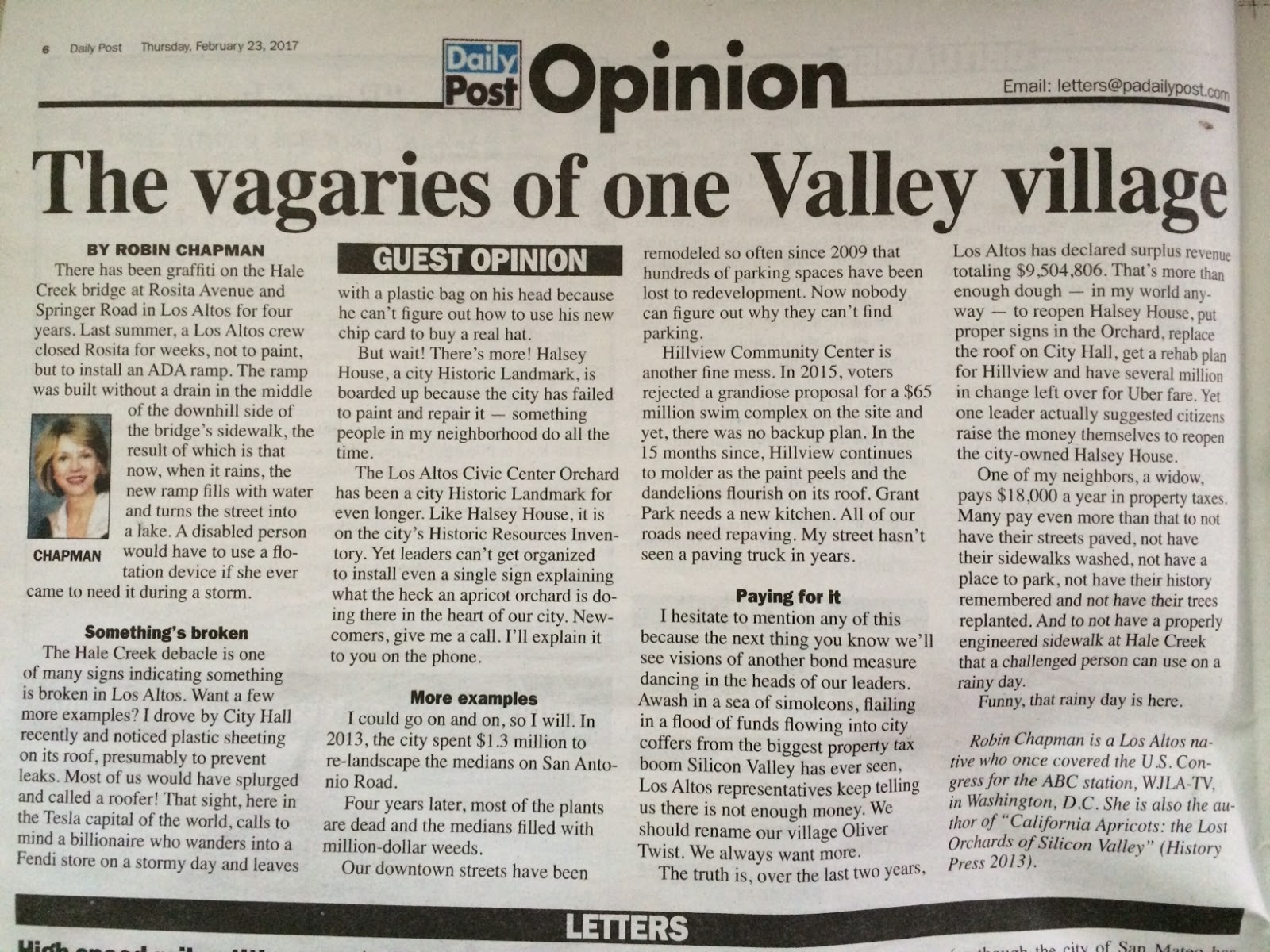 Robin Chapman News The Vagaries Of One Valley Village