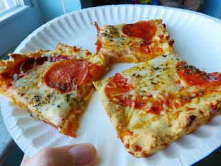 Pizza Made with an Almond-Flour Crust