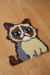 hama boncuğu grumpy cat