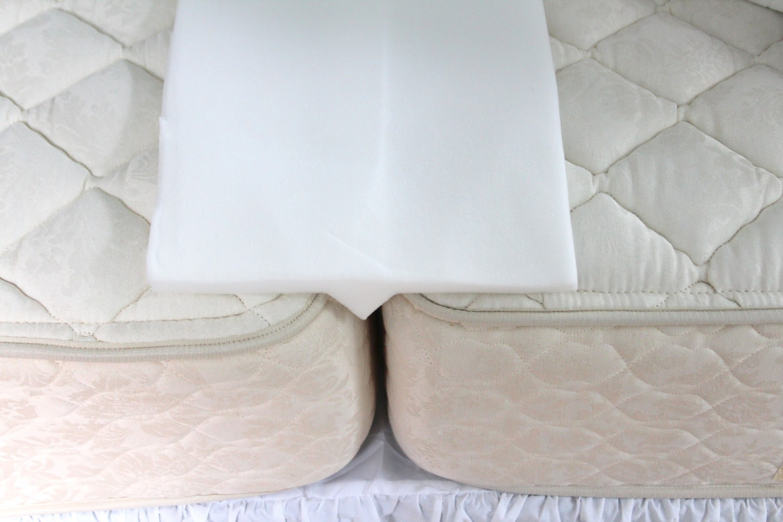 Foam Bed Bridge Fills In Gap Between Two Twin Mattresses And Converts Them To A King