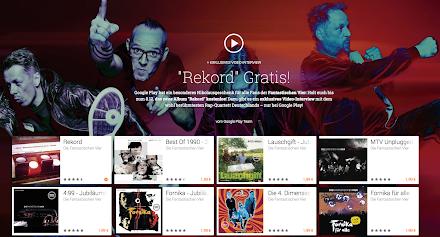 Das aktuelle Album der Fantastischen Vier - Rekord gibt es heute kostenlos via Google Play