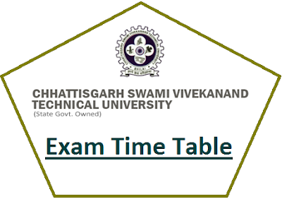 CSVTU Time Table April May 2020