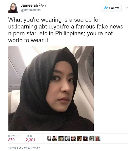 Global News ► Mocha Uson Slammed By Arabian Woman For Wearing a Hijab!