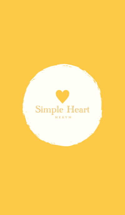 Simple Heart Yellow -MEKYM-