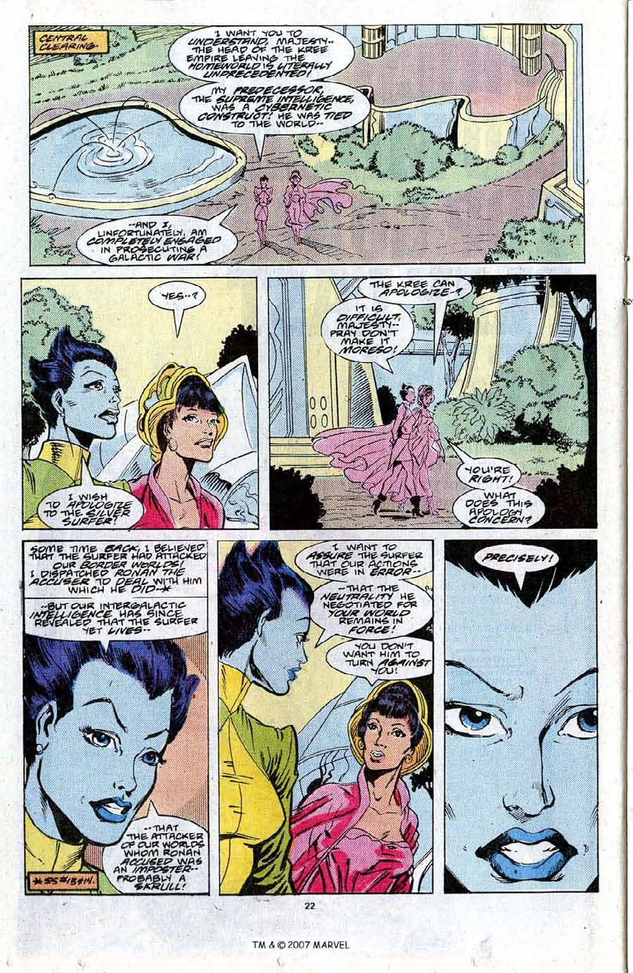 Read online Silver Surfer (1987) comic -  Issue #20 - 24