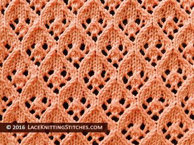 Diamond Lace Knitting Stitch