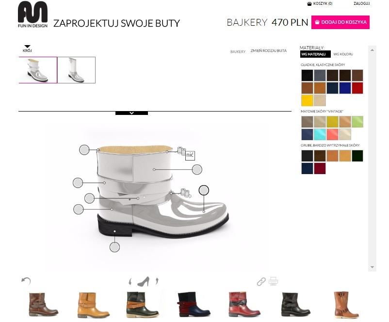 8259675ad Mamy tutaj 8 rodzajów butów, które możemy stworzyć od postaw - wybiera się  każdy element buta, nawet zwykły szew. Ręcznie szyte.