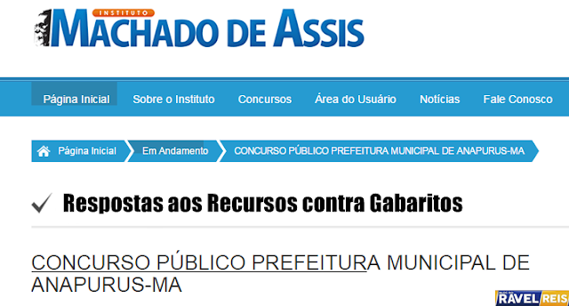 Instituto Machado de Assis Divulga respostas aos recursos contra gabaritos preliminares
