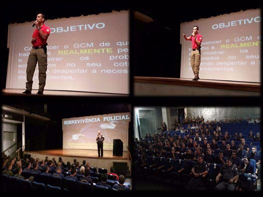 Especialista em segurança pública e privada ministra palestra sobre Sobrevivência Policial na Guarda Civil de Piracicaba