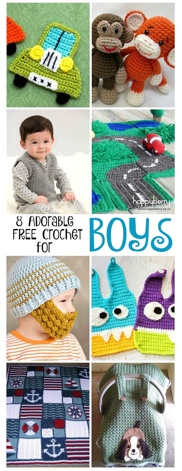 8 Adorable Free Crochet Patterns For Boys Grateful Prayer