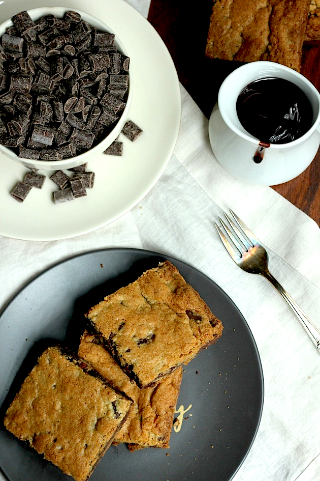 Chocolate Chunk Blondies | Savor Home