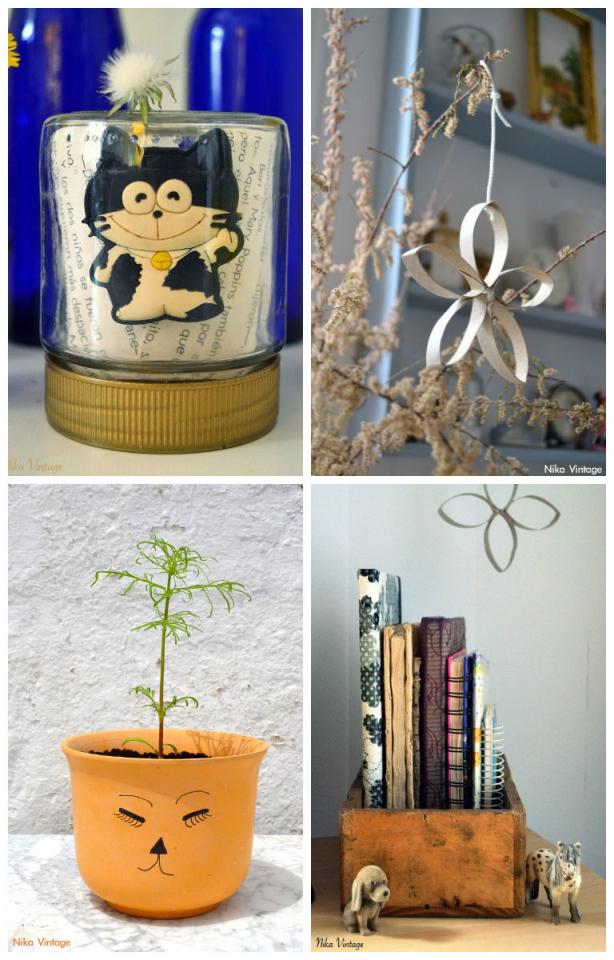 diy, hazlo tu mismo, lista, listado, manualidades, craft, repaso del año, maceta cara, cajon madera, estrella carton, gato en bote
