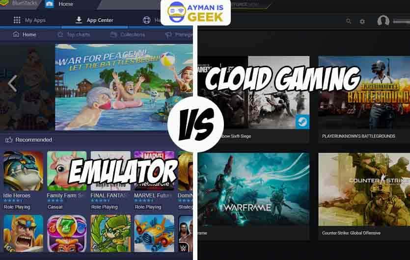 Perbedaan cloud gaming dengan Emulator