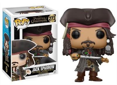 Jack Sparrow Funko Pop next to it's box