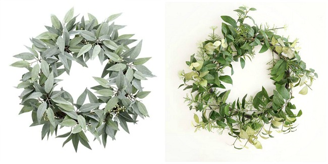 Life like affordable faux Eucalyptus leaf wreaths