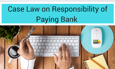 Case law on responsibility of Paying Bank