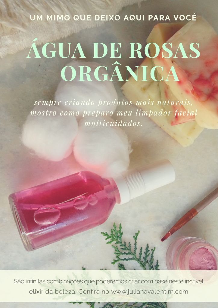 água de rosas caseiro
