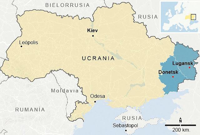 O anunciado país de Malorossía incluiria por completo as regiões de Lugansk e Donetsk. Mas, isso seria só como início de conversa.