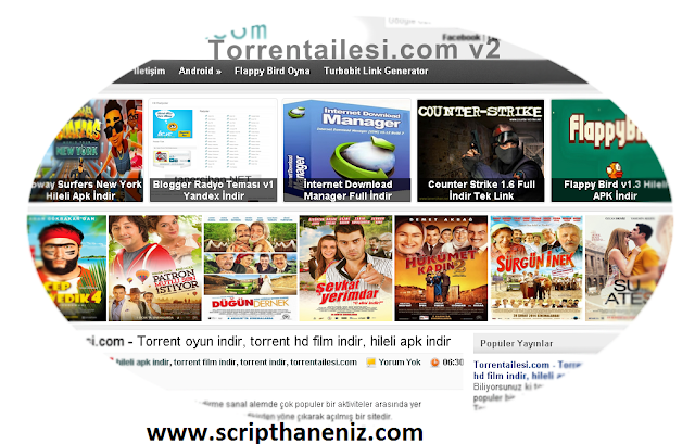 Blogger TorrentV2 Teması