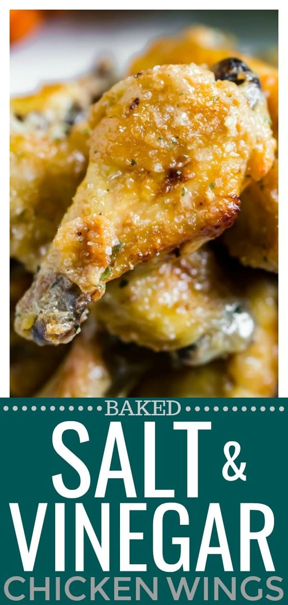 Baked Salt & Vinegar Chicken Wings