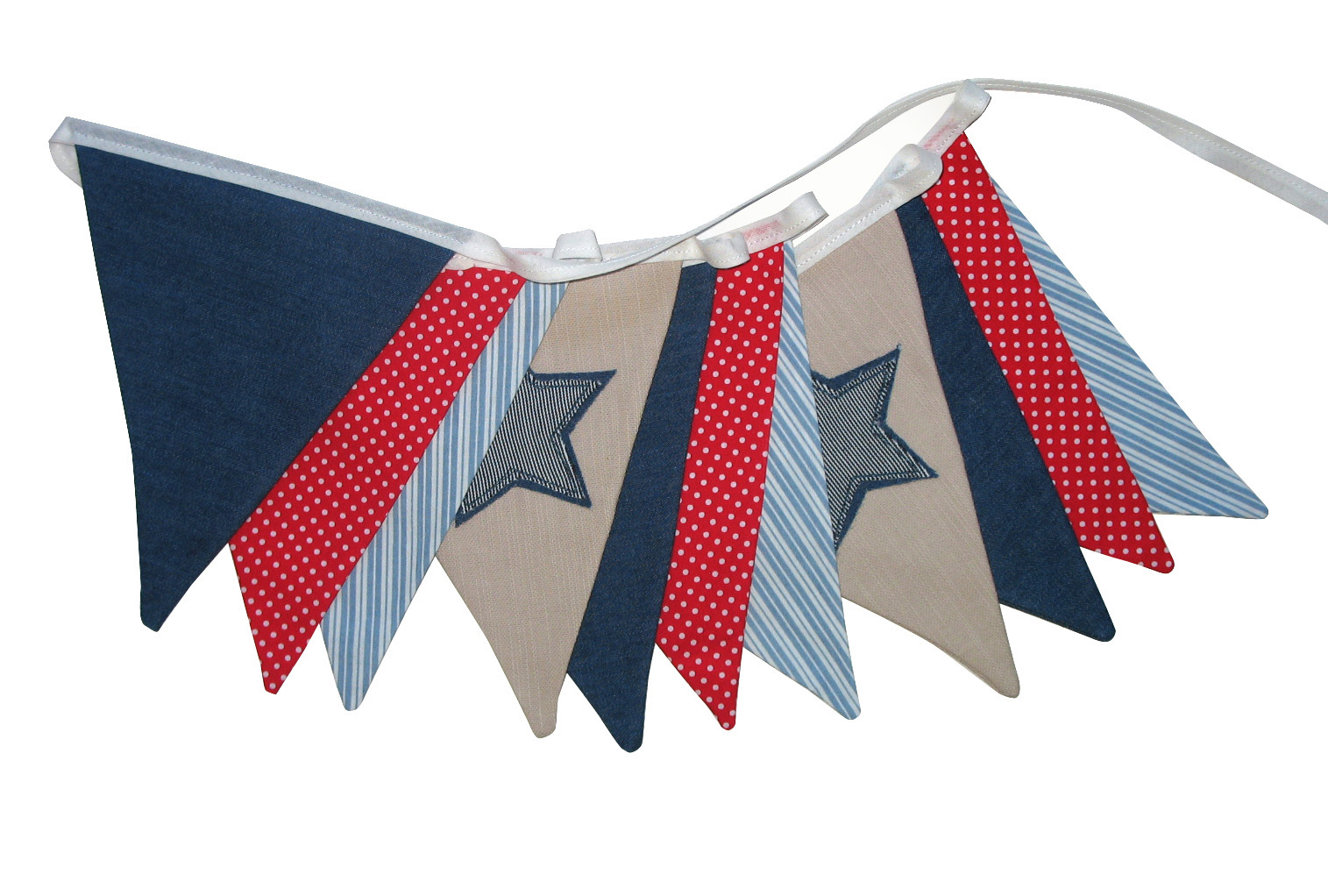 Merry Go Round Handmade Boys Star Flag Bunting Has Made