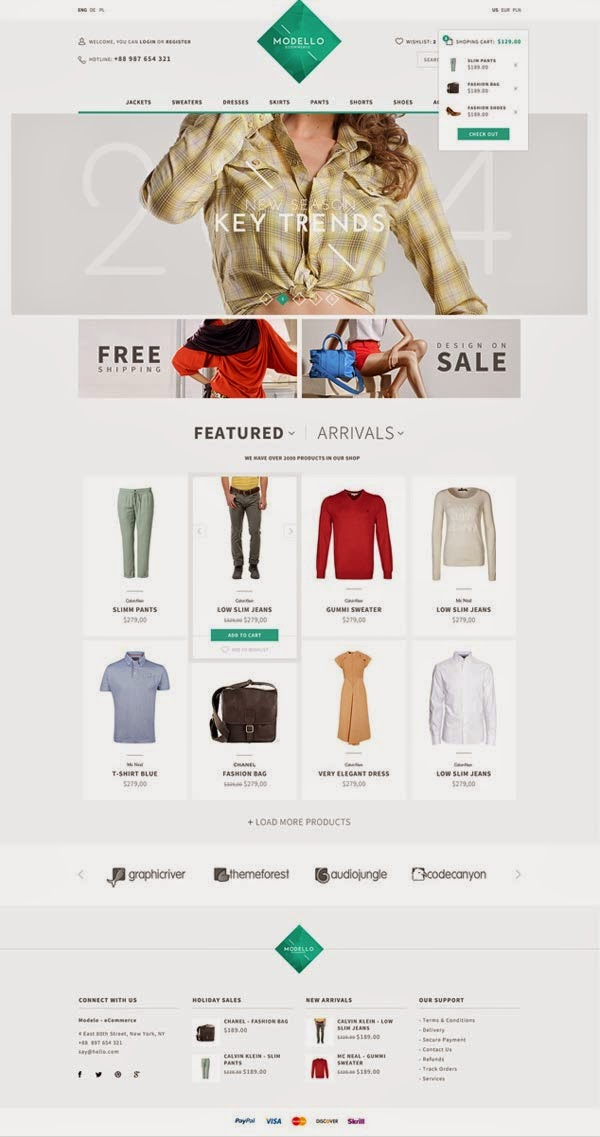 Modello - Ecommerce Website Template