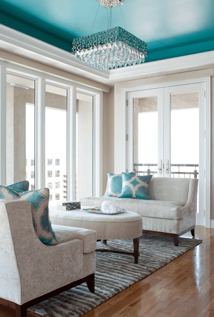 Eye For Design Decorate With Boldly Painted Contrast Ceilings