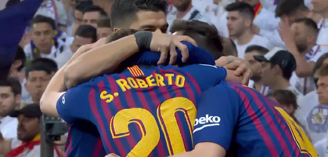 Barcelona have beaten Real Madrid in the Bernabeu for the second time in just three days after beating them 1-0 on Saturday in the Spanish league.