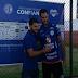 Frontini é apresentado pelo Confiança durante treino na Barra dos Coqueiros